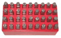 4WD Parts: KC Tools, 5.0mm LETTER & NUMBER PUNCH SET 36 PC