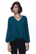 South Moon Under: Eight Sixty Solid High-Low Long Sleeve Blouse At Just $20.99