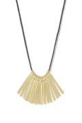 South Moon Under: Hammered Bar Fringe Cord Necklace At Just $38.5