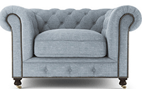 Brosa: Camden Chesterfield 1 Seater Armchair From $799