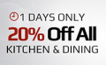 Dr Grab: 20% Off Kitchen & Dining + Free Shipping