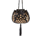 Bergdorf Goodman: Chloe Inez Small Leather Drawstring Bag, Black For $2350