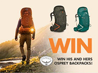Wild Earth: Win His And Hers Osprey Backpacks