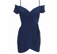 InLoveWithFashion: Love Cold Shoulder Dress In Navy $53.31