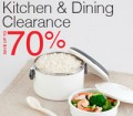 Lazada: 70% Off Kitchen & Dining Clearance