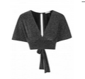 InLoveWithFashion: Love Kimono Sleeve Top In Black & Silver Lurex $36.56