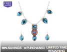 LivingSocial: Boho Chic Deep Blue Turquoise Necklace Set $14.99