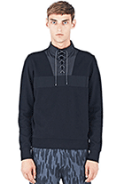 LN-CC: 40% Off OAMC Men's Glacier Laced Sweater From AW15 In Black