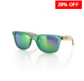 Find Sports: 28% Off Carve Bronte Matt Green W/Striped Bamboo Green Revo Sunglasses