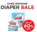 Lazada: 60% Off Diapers Sale