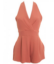 InLoveWithFashion: Love Pleated Bust Playsuit In Rust $54.84