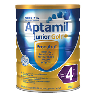 Amcal: Aptamil Gold+ 4 Junior From 2 Years - 900g For $19.95
