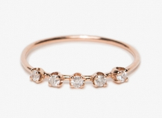 Need Supply Co.: Rosegold Diamond Cinq Ring For $330