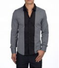 Point Zero: Atelier Mix Material Dress Shirt $87.99