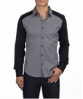 Point Zero: Atelier Mix Material Dress Shirt $79.04