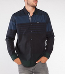 Point Zero: Mixed Stripe Long Sleeve Shirt $60