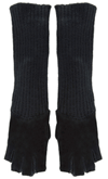 Alice And Olivia: Knit & Shearling Long Gloves For $55