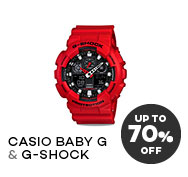 Lazada: 70% Off CASIO BABY-G & G-SHOCK Watches