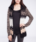 Point Zero: Chevron Open Front Cardigan $79