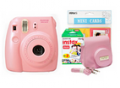 Camera House: FujiFilm Instax Mini 8 Pink Bundle Inc. Pink Camera, Case Strap, Love Cards & 20 Pk Film $149