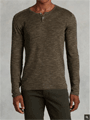 John Varvatos: Linen Cotton Henley Sweater For $298