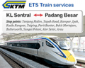 Easibook: ETS Train From Kuala Lumpur To And Fro Padang Besar