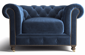 Brosa: $800 Off Notting Hill Velvet Chesterfield Armchair