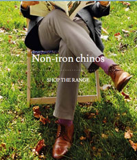 Charles Tyrwhitt: Non-iron Chinos 2  For $140