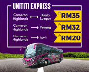 Easibook: Unititi Expres Bus Trips From RM20