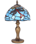 Parrot Uncle: Blue Tiffany Dragonfly Table Lamps Lighting Fixture For $43.44