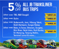 Easibook: 5% Off JB Transliner Bus Tickets