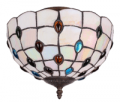 Parrot Uncle: Round Stained Glass Peacock Tiffany Flush Mount Ceiling Lights For $50.33