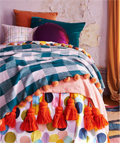 Hunting For George: Tartan Wool Pom Pom Blanket For $174.3