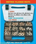 4WD Parts: 160 Piece Metric Flange Nuts Assortment M12 M10 M8 M6 M5