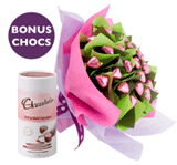 Edible Blooms: With Love Flower Posy For $55  + Free Gift Card