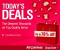 AliExpress: 70% Off Today's Deals