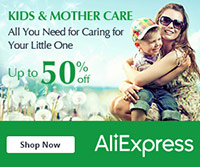 AliExpress: 50% Off Kids And Mother Care