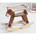 Hipkids: Just Need $69.95 Brown Rocking Horse Removable Safety Bar