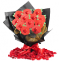 Edible Blooms: One Dozen Roses Bouquet For $39