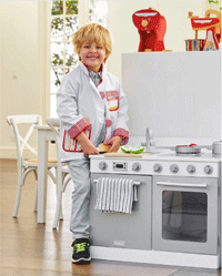 Hipkids: White Gourmet Toy Kitchen For $179.95
