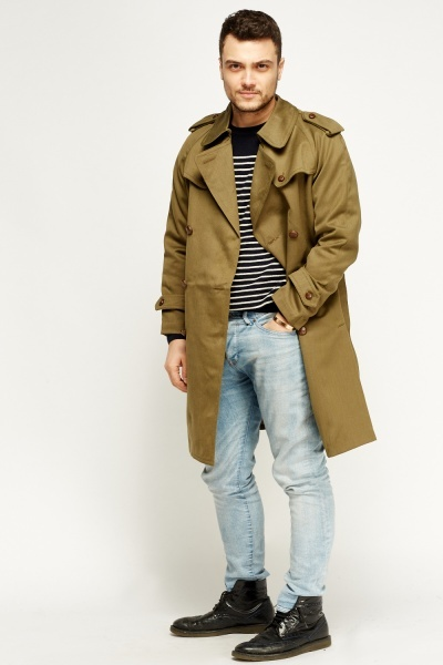 Everything5pounds: £5 For Khaki Longline Trench Coat