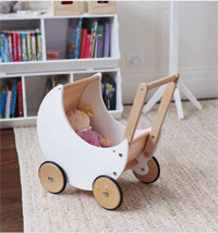 Hipkids: White Moon Doll Pram For $99.95