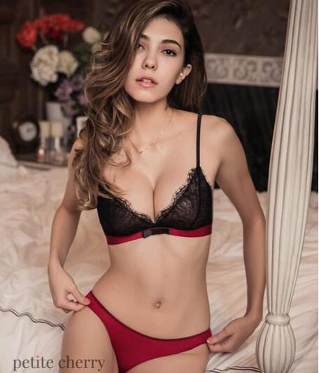 Petite Cherry: 5% Off Kendra Eyelash Lace Bralette Set