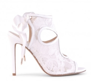 Siren Shoes: 60% Off St Tropez - Ivory Corded Lace