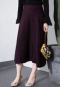 Dezzal: EWHEAT Tea Length Winter Skirt