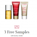 Clarins: 3 Free Samples With Every Order