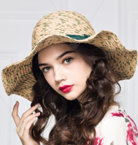 Dezzal: KUYIN Sweet Ruffle Bowknot Decorated Straw Hat