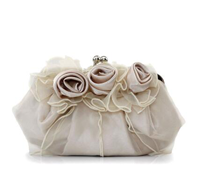 Dezzal: CAI YUE  Lace Flowers Satin Evening Clutches
