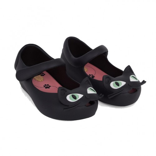 Baby Dino: Mini Melissa  Ultragirl Black Cat Shoes For AUD$79.95