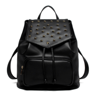 Dezzal: PU Drawstring Rivet Backpack